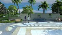 公园水池小广场设计