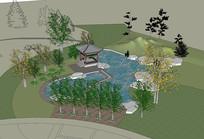 古典园林SU模型设计
