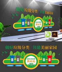 街道社区绿色环保垃圾分类文化墙