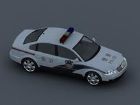 警车3D模型