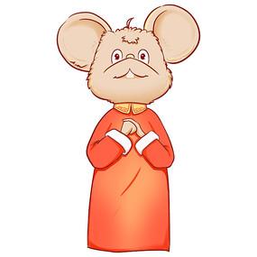手绘2020鼠年老鼠拜年插画元素