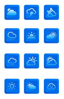 天气预报说明图标设计 PSD