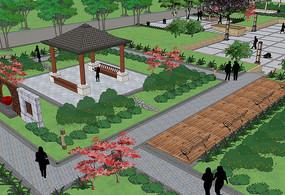 庭院景观SU模型