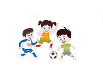 踢足球原创插画