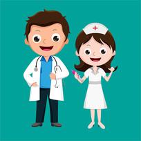 原创元素医生护士表情