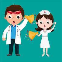 原创元素医生护士加油助威表情