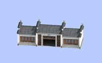 中式仿古厕所建筑