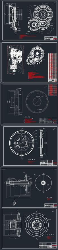 CAD金属带式无级变速器CVT