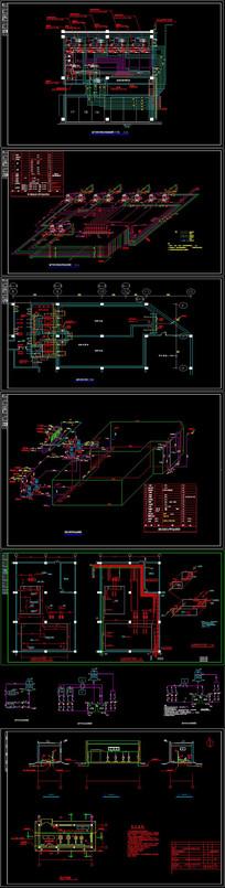 CAD水泵房及水箱等设备房详图 CAD