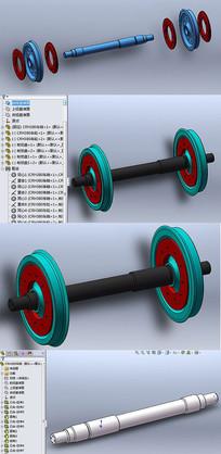 CRH380动车组轮对建模设计