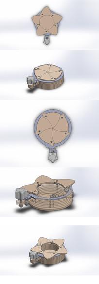 创意齿轮传动机构盒模型