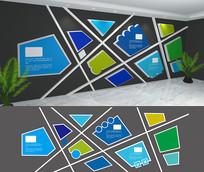 创意色块文化墙设计