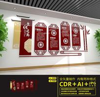 传统校园文化长廊文化墙