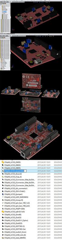 电路板UC32设计SLDPRT模型