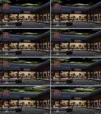 豆磨房豆腐西施LED背景视频素材 mp4