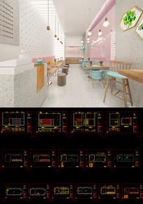 工装小餐饮cad设计施工图 CAD