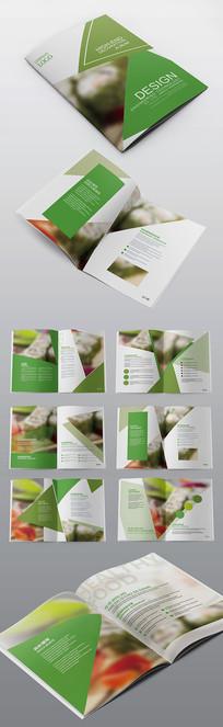 简约绿色食品环保企业画册