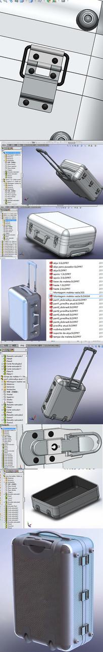 旅行拉杆箱solidworks设计
