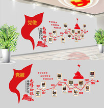 社区党的光辉历程党建文化墙