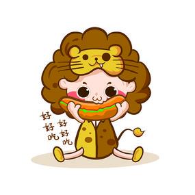 原创元素十二星座之狮子座表情 AI