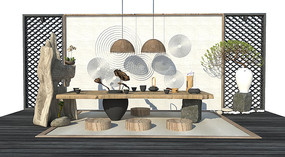 新中式茶室茶桌茶台
