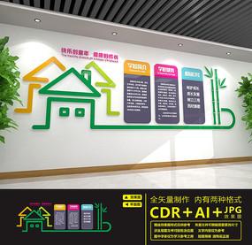 学校简介校园文化墙设计