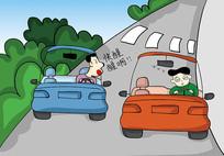 原创元素手绘疲劳驾驶小漫画