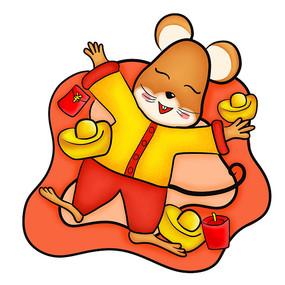 原创元素手绘鼠年老鼠
