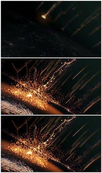 震撼粒子雨片头视频模板