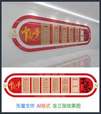 中国梦不忘初心文化墙设计