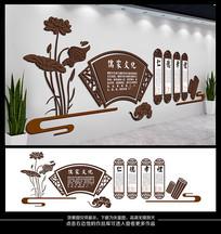 中式立体德育文化墙设计