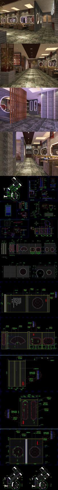粥膳坊CAD施工图 效果图
