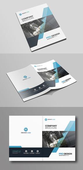 大气简洁企业公司科技画册封面设计