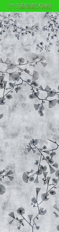 高清树叶装饰艺术画