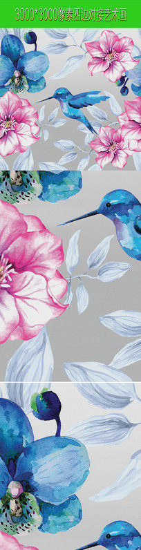 油画花鸟图案画案