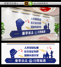 警察文化墙展板