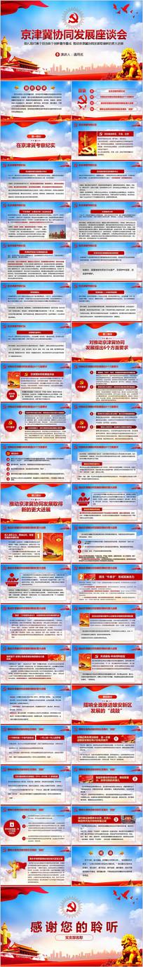 京津冀协同发展座谈会解读PPT