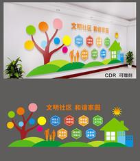 精美创意社区文化墙