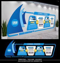 蓝色科技公司文化墙