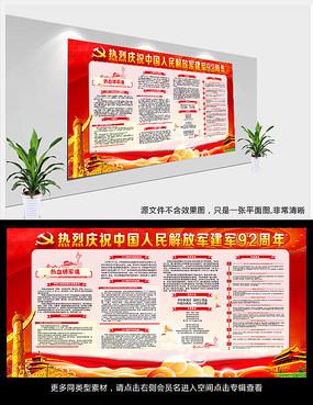 热烈庆祝中国人民解放军建军92周年展板