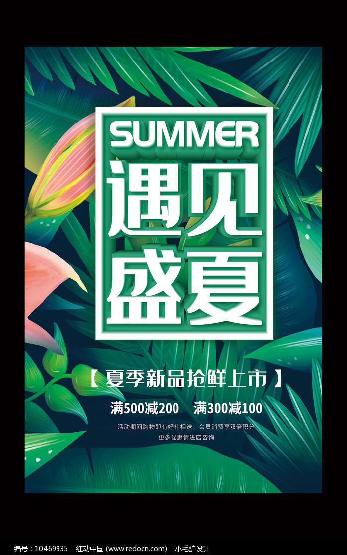 遇见盛夏夏季新品促销海报图片