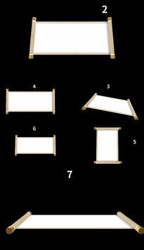 7组古卷轴动画打开视频带透明通道