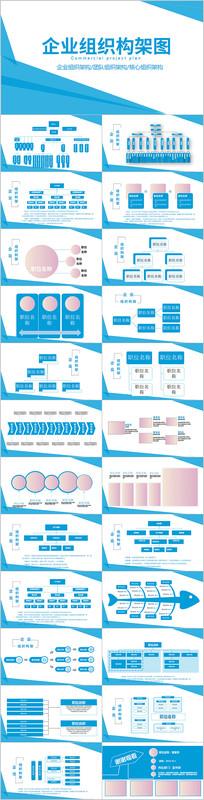 简约公司组织架构企业机构图PPT