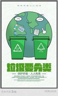 鉴于垃圾要分类宣传海报