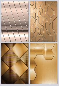 金色金属质感纹理背景图