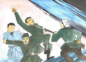 抗日英雄卡通漫画