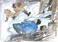 抗战时期《日本鬼子进村抢杀》