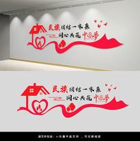 民族团结一家亲文化墙设计
