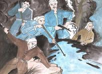 战争时期手绘漫画