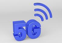 5G网络时代立体字元素